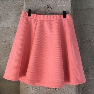Hot pink pleated H&M skater skirt!